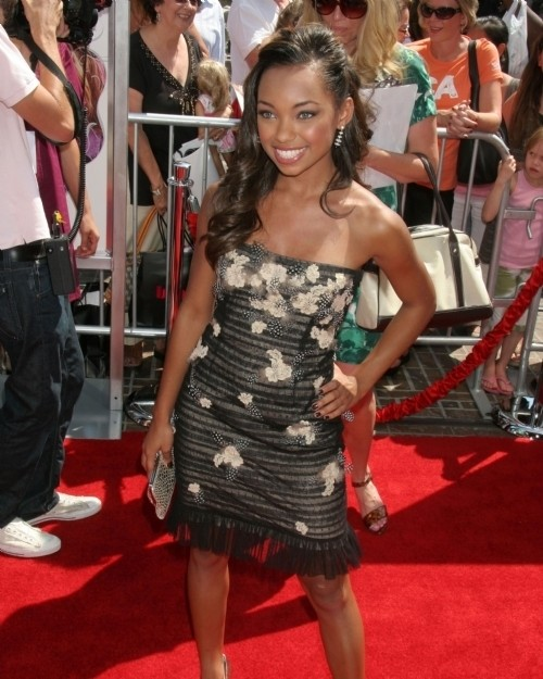 Logan Browning legs and feet