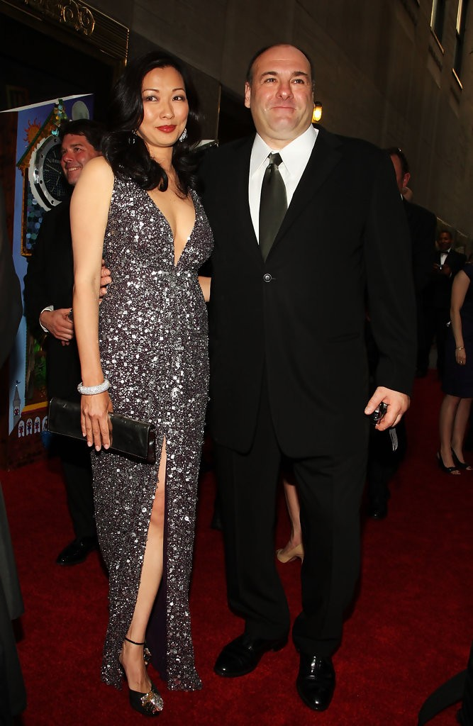 Deborah Lin and James Gandolfini