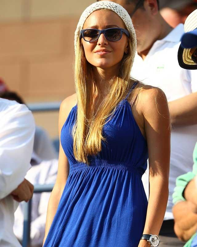 Jelena Ristic blue dress