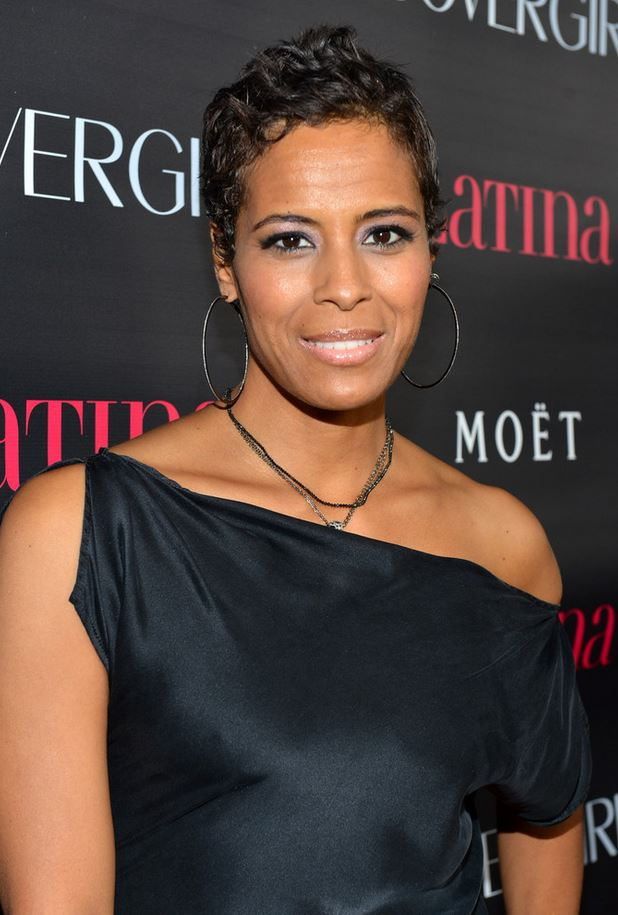 Daphne Wayans black dress