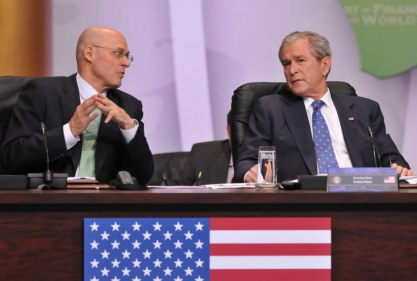 Henry Paulson and GW Bush