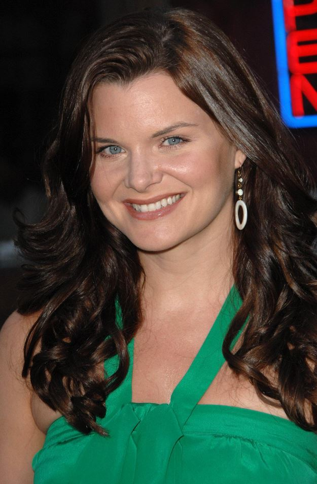 Heather Tom green dress