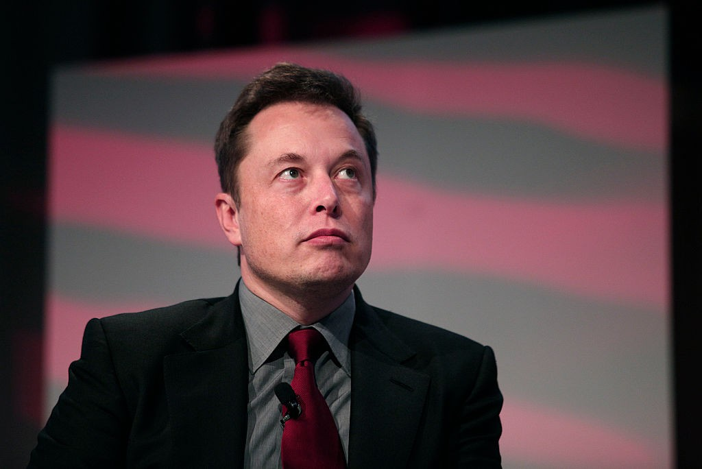 Elon Musk Celebrating