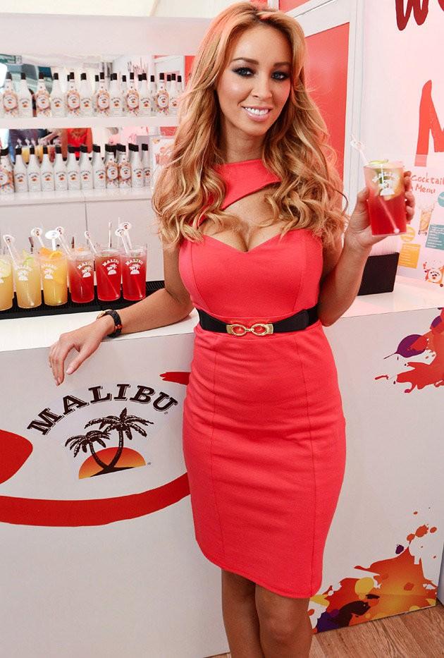 Lauren Pope red dress