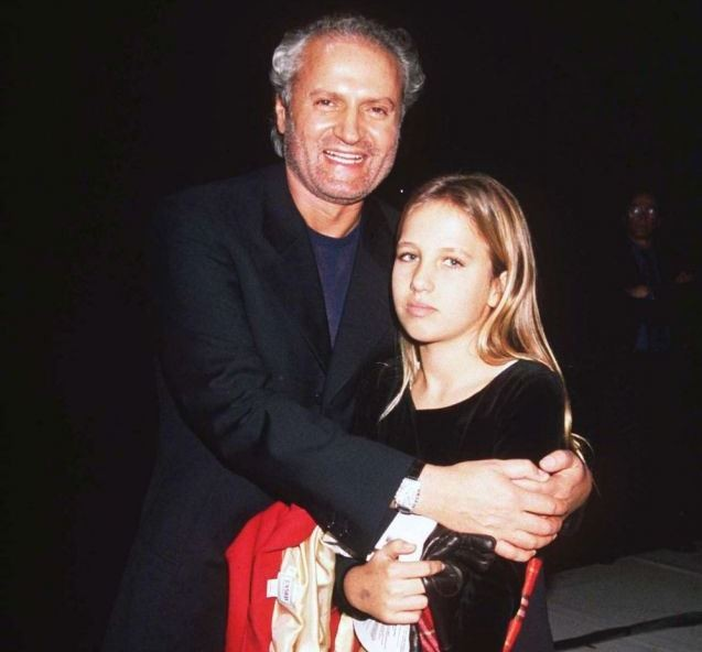 Gianni and Allegra Versace