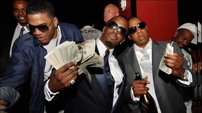 Nelly, Diddy and Jay-Z