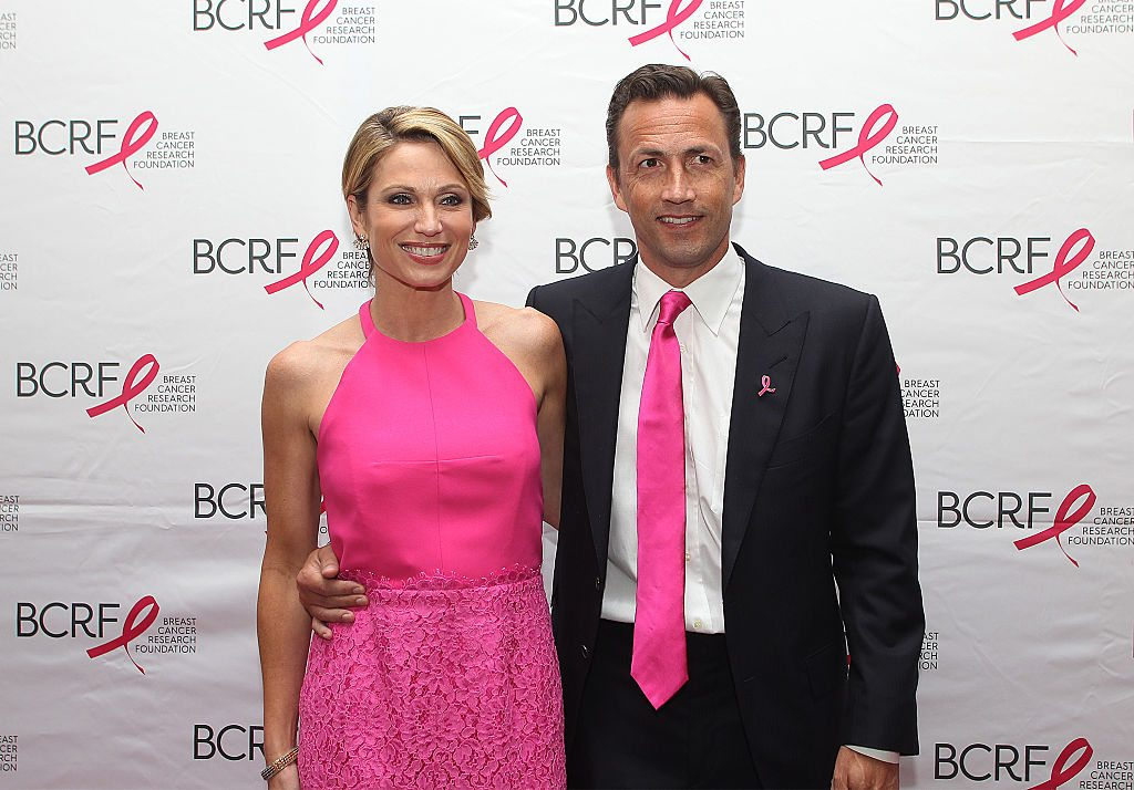 Andrew Shue and wife Amy Robach