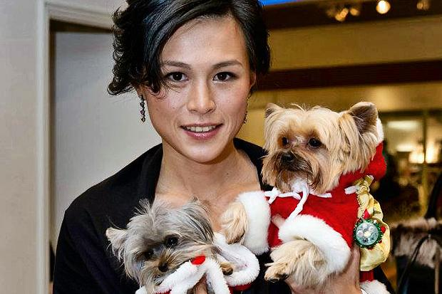 Gigi Chao with some Dogs