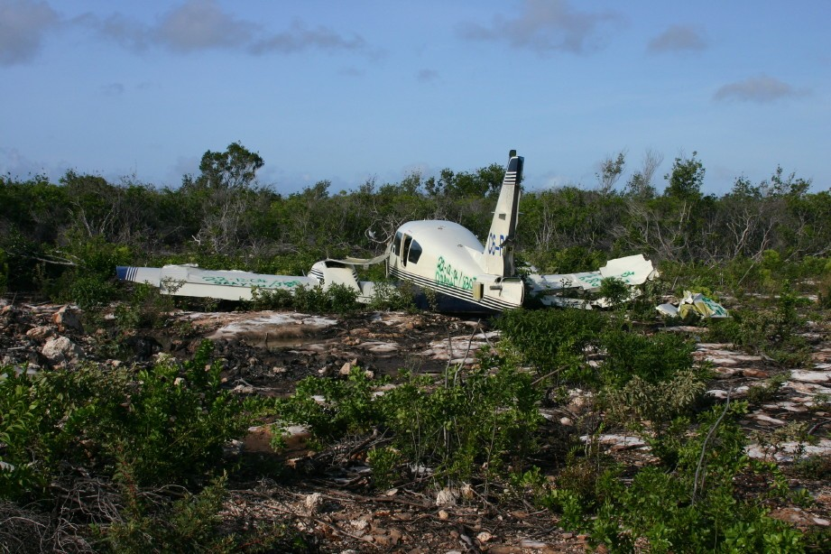 Abandoned Cocaine Plane Crash on Norman's Cay
