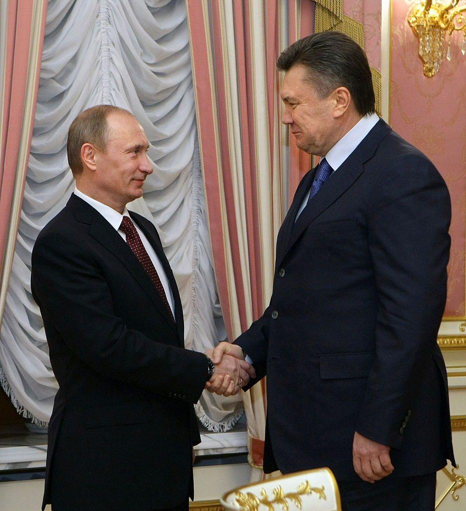 Viktor Yanukovych and Vladimir Putin