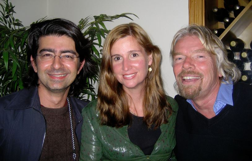 Pierre, Pamela and Richard Branson