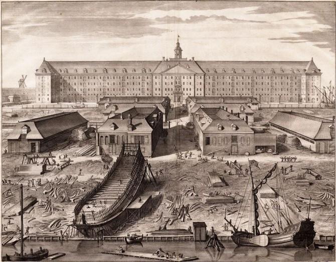 Amsterdam Shipyard in 1750
