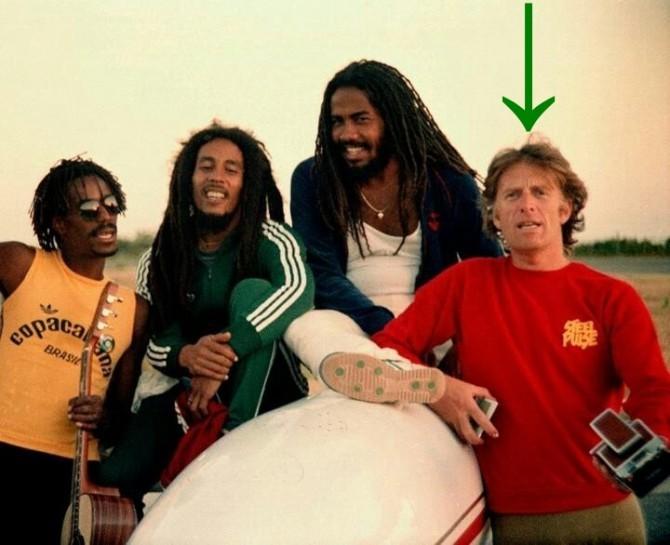 Bob Marley and Chris Blackwell