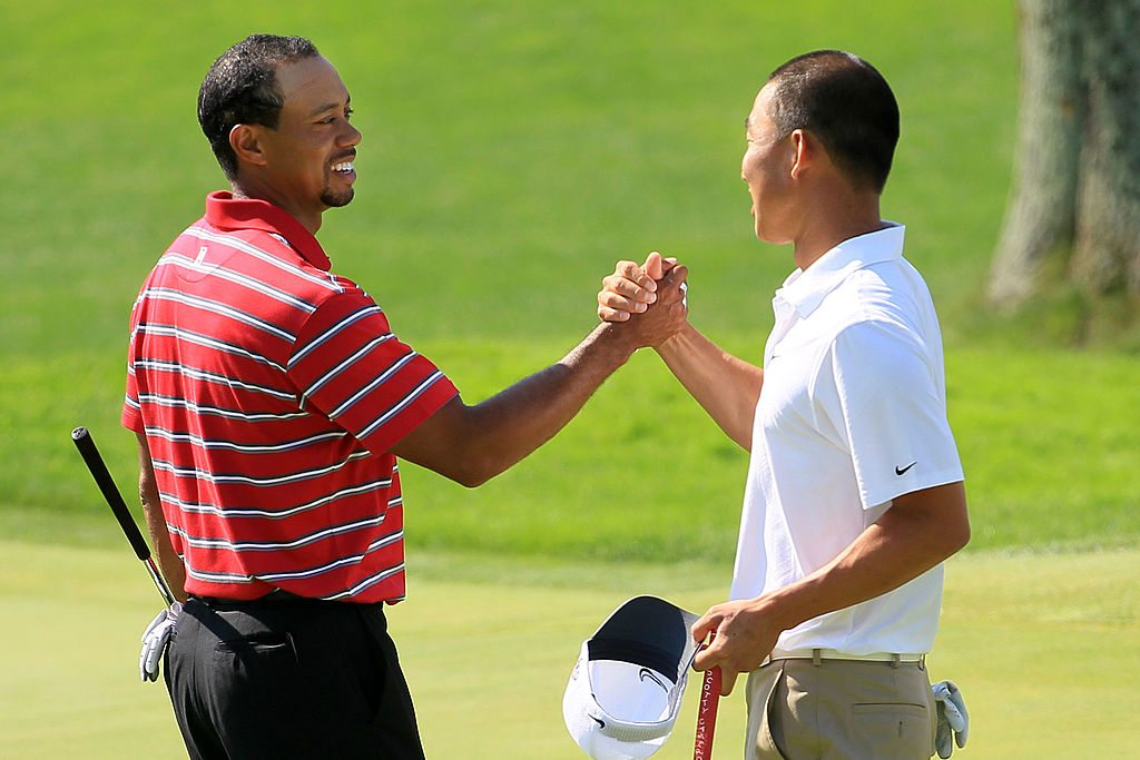 Tiger Woods and Anthony Kim