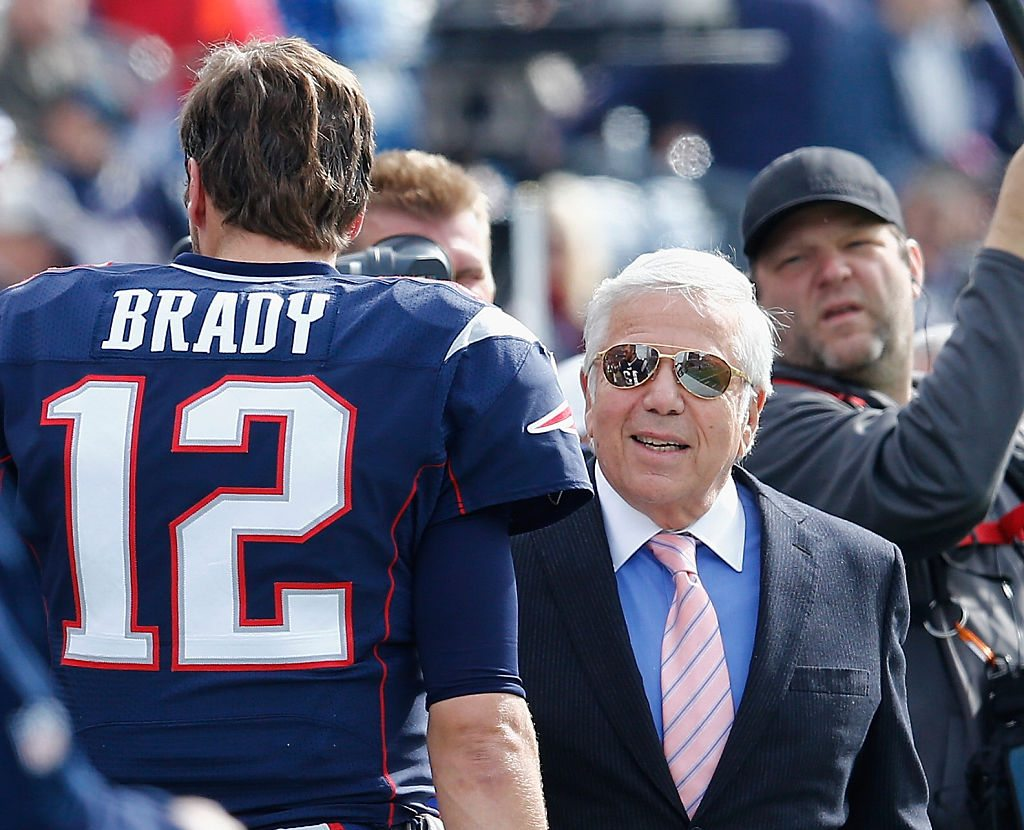 Tom Brady and Robert Kraft