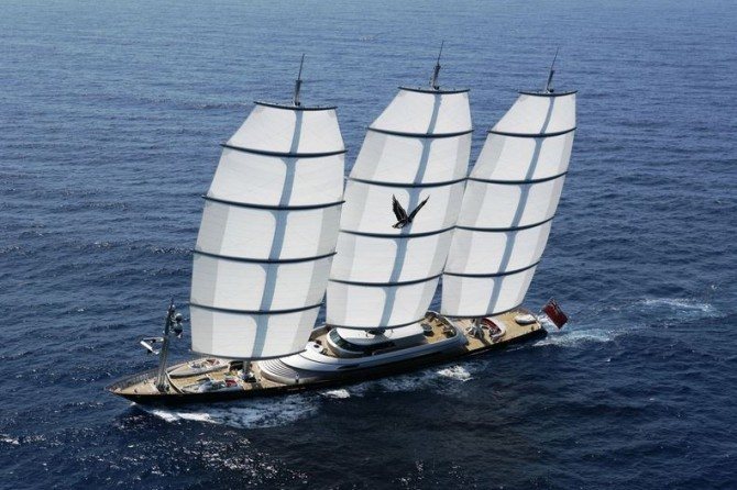 Tom's Yacht - The Maltese Falcon