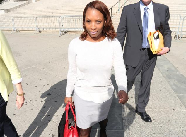 Lavonia Leviston Leaving Court