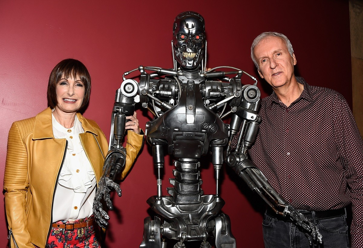 Gale Anne Hurd and James Cameron