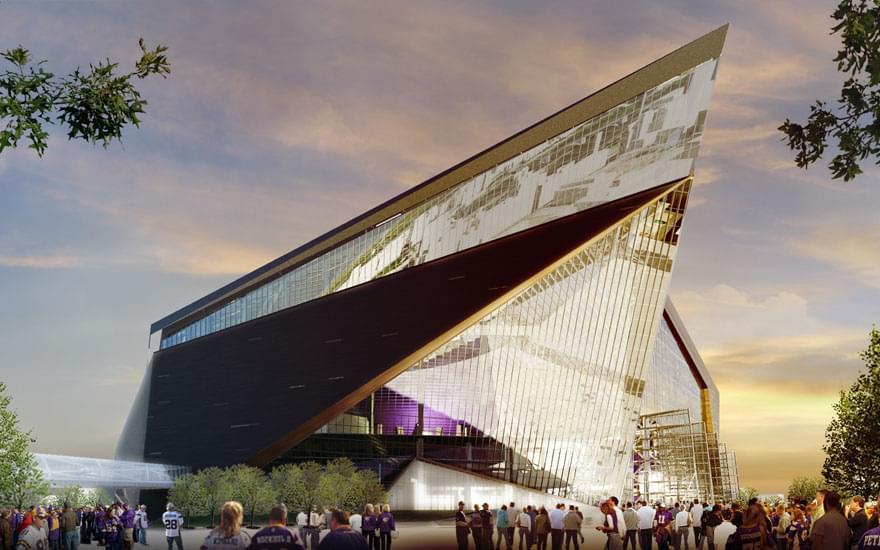 Minnesota Vikings New 1 1 Billion Stadium Has Sprung A 4