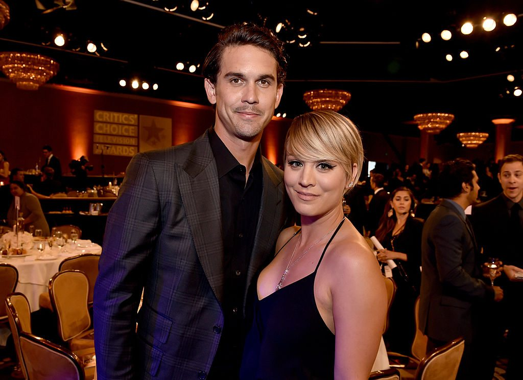 BEVERLY HILLS, CA - JUNE 19: Actress Kaley Cuoco (R) and Tennis player Ryan Sweeting attend the 4th Annual Critics' Choice Television Awards at The Beverly Hilton Hotel on June 19, 2014 in Beverly Hills, California. (Photo by Kevin Winter/Getty Images for Critics' Choice Television Awards)