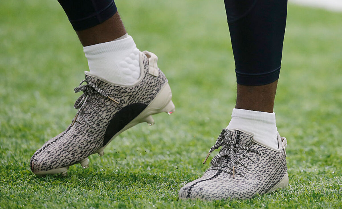 NFL Player Makes Up Bogus Foundation To Wear Yeezy Cleats