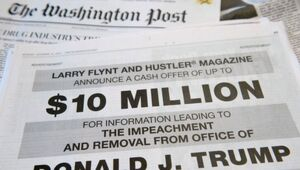Thumbnail for Larry Flynt Takes Out Full Page 'Washington Post' Ad Offering $10M To Any Info Leading To Donald Trump's Impeachment