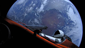 Thumbnail for The Tesla Roadster Fired Into Space By Elon Musk Could Come Plummeting Back To Earth