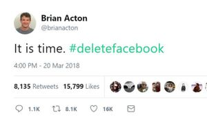 Thumbnail for A Guy Who Made $5.5 Billion Selling His Company To Facebook Thinks Everyone Should Delete Facebook. Awkward!