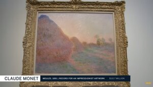 Thumbnail for A Monet 'Haystacks' Painting Just Sold For A Record-Breaking $110.7 Million