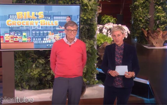 Ellen Makes Bill Gates Guess The Price Of Basic Super Market Items... And It's Kind Of Hilarious