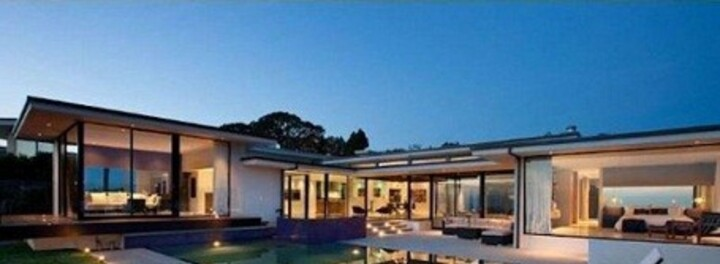 Vera Wang's stylish glass house in Beverly Hills