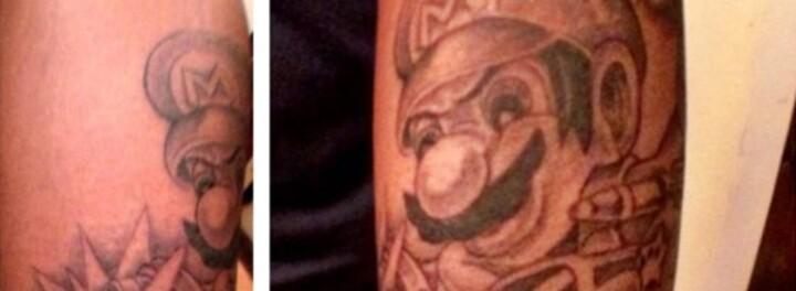 Sean Kingston's $1,250 'Mario Kart' Tattoo