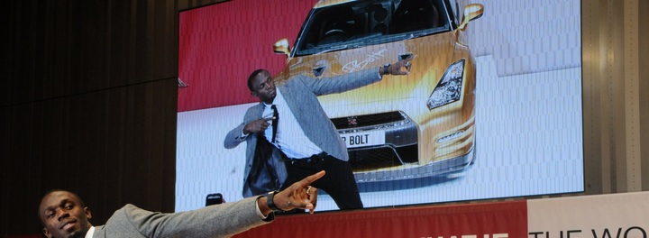 Usain Bolt's Car:  What Do You Give the Fastest Man in the World?  A Super Fast Car