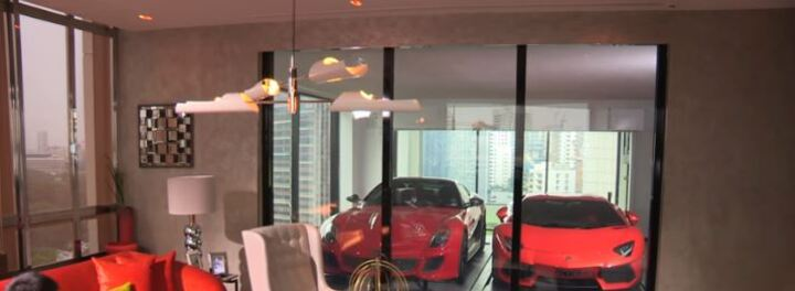 Rich People In Singapore Park Their Ferraris In The Living Room