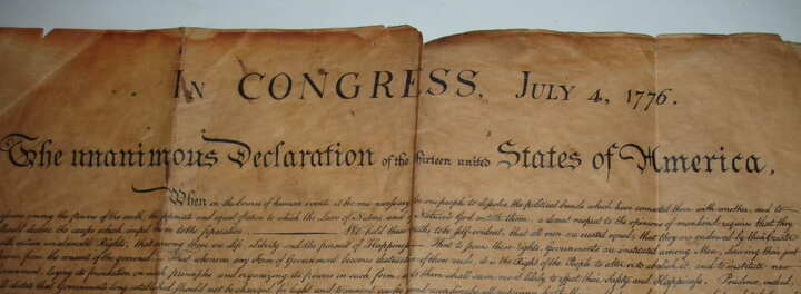 Guy Spends $4 On Flea Market Picture Frame, Finds Copy Of The Declaration Of Independence, Becomes Millionaire.