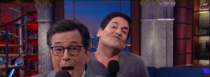 Mark Cuban Muscially Roasts Donald Trump On 'Colbert'