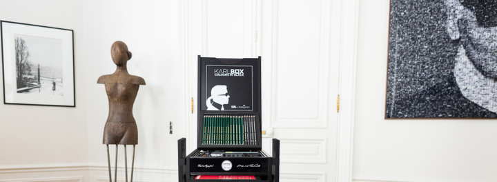 Designer Karl Lagerfeld Puts Out Limited Edition Art Supply Set Priced At Almost Three Grand