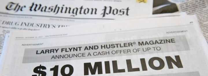 Larry Flynt Takes Out Full Page 'Washington Post' Ad Offering $10M To Any Info Leading To Donald Trump's Impeachment
