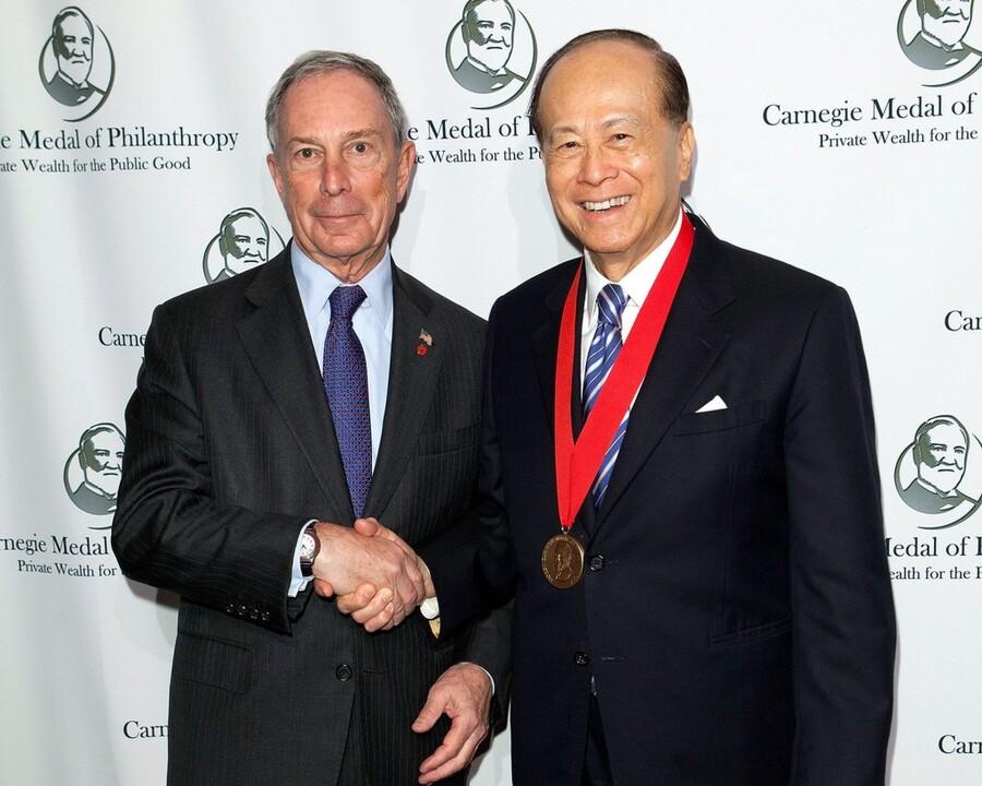 Li-Ka Shing and Michael Bloomberg