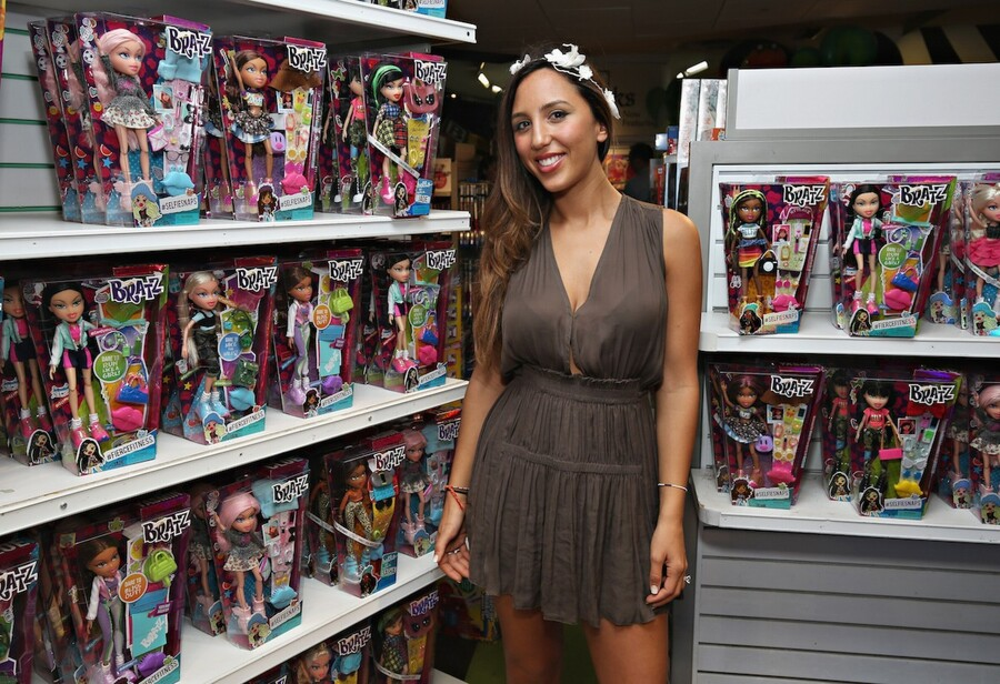 """Designer/ daughter of Bratz founder Jasmin Larian attends the Bratz Launch Event at Toys""""R""""Us Times Square on July 25, 2015 in New York City. Cindy Ord/Getty Images for Bratz"""