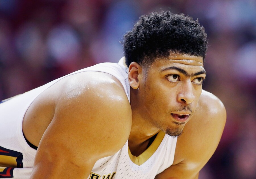HOUSTON, TX - DECEMBER 18: HOUSTON, TX - DECEMBER18: Anthony Davis #23 of the New Orleans Pelicans waits on the court during their game against the Houston Rockets at the Toyota Center on December18, 2014 in Houston, Texas. NOTE TO USER: User expressly acknowledges and agrees that, by downloading and/or using this photograph, user is consenting to the terms and conditions of the Getty Images License Agreement. (Photo by Scott Halleran/Getty Images)