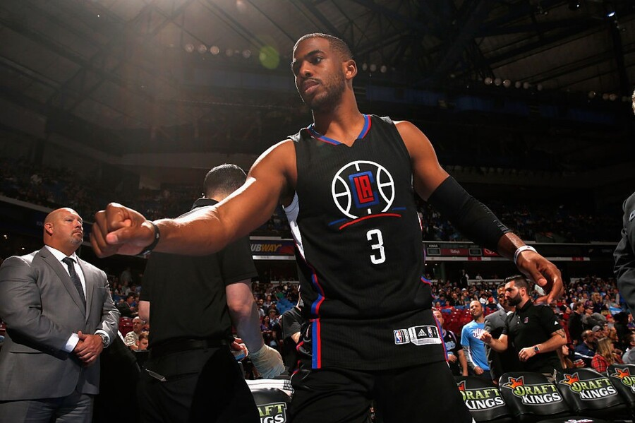 SACRAMENTO, CA - FEBRUARY 26: Chris Paul #3 of the Los Angeles Clippers gets ready for their game against the Sacramento Kings at Sleep Train Arena on February 26, 2016 in Sacramento, California. NOTE TO USER: User expressly acknowledges and agrees that, by downloading and or using this photograph, User is consenting to the terms and conditions of the Getty Images License Agreement. (Photo by Ezra Shaw/Getty Images)