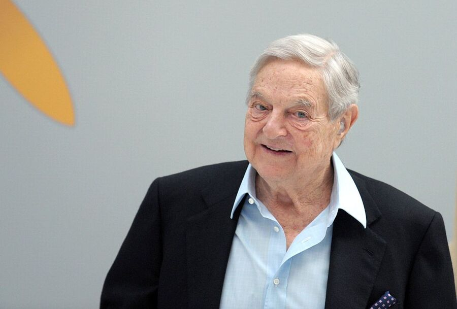 Hungarian-born US chairman of the Soros Fund Management, George Soros, arrives to attend a session of the 6th annual conference of the Institute for new economic thinking (INET) at the OECD headquarters in Paris on April 9, 2015. AFP PHOTO / ERIC PIERMONT (Photo credit should read ERIC PIERMONT/AFP/Getty Images)