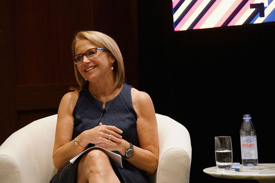 "NEW YORK, NY - JULY 15: Katie Couric speaks on stage at the MasterCard ""Priceless® Conversation"" to support Stand Up To Cancer with Katie Couric on July 15, 2016 in New York City. (Photo by Bennett Raglin/Getty Images for MasterCard)"