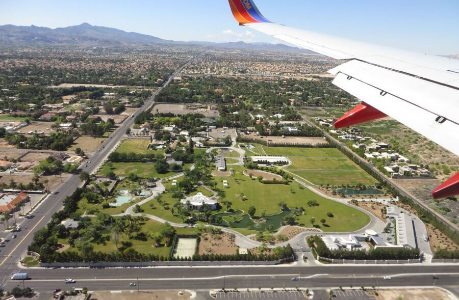 Wayne Newton's Case de Shenandoah as seen from a plane landing.