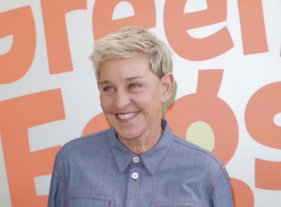 "LOS ANGELES, CALIFORNIA - NOVEMBER 03: Ellen DeGeneres attends the premiere of Netflix's ""Green Eggs And Ham"" at Hollywood American Legion on November 03, 2019 in Los Angeles, California."