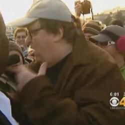 Denver Reporter Confronts Michael Moore about $50 Million Net Worth