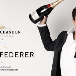 Roger Federer Signs $30 Million Champagne Deal
