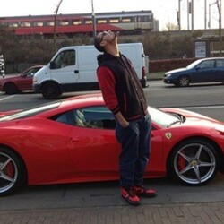 Afrojack's Car:  Afrojack Jacks Up His Ferrari in Record Time