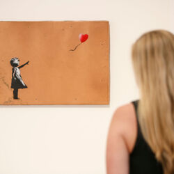 Banksy Destroyed One Of His Paintings The Moment After It Sold For $1.4 Million - In The Most Hilarious Way Possible